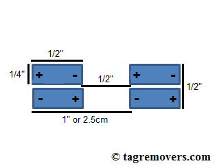 This diagram shows the layout of magnets similar to those found in the handkey